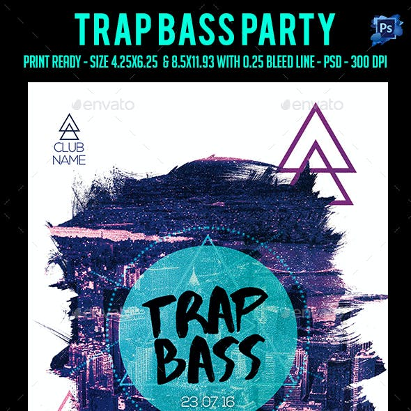 Trap Bass Party Flyer