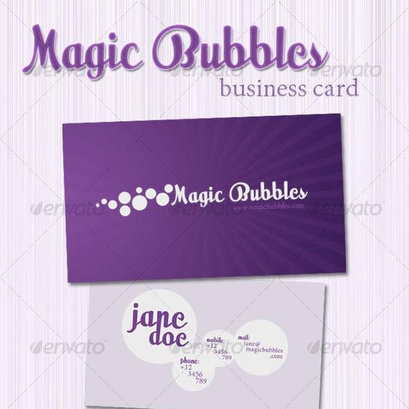Magic Bubbles Business Card