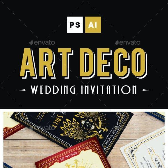 ART DECO WEDDING INVITATION Vol. 3