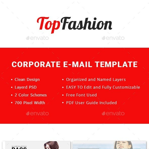 TopFashion-Multipurpose Email Template