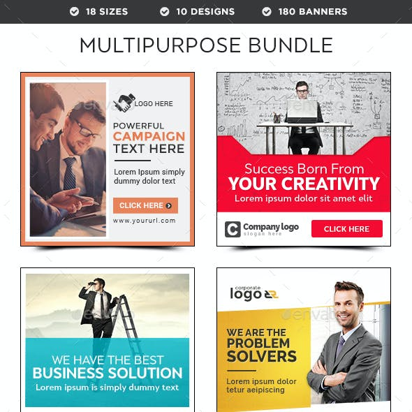 Multipurpose Banners Bundle - 10 Sets - 180 Banners