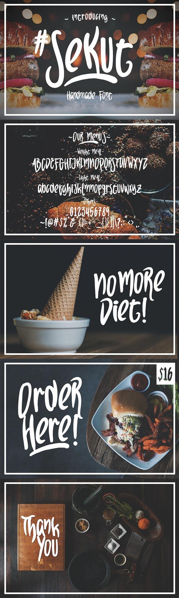 Sekut Typeface - Decorative Fonts