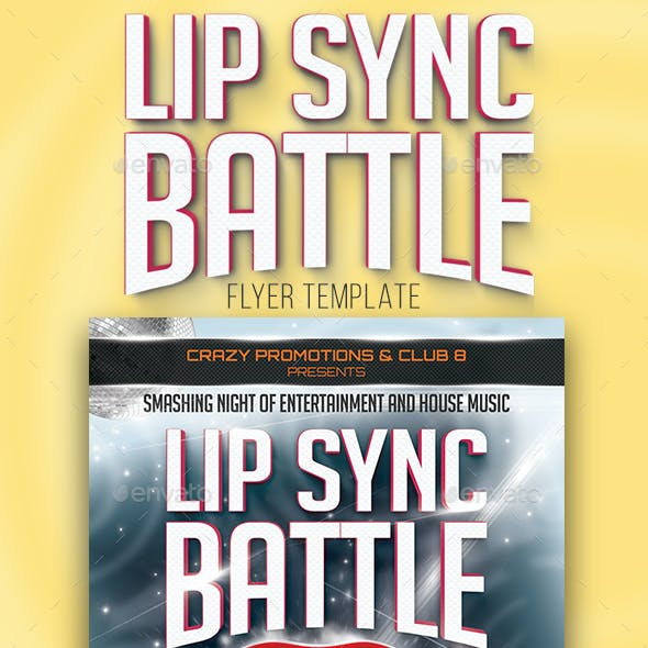 Lip Sync Battle Flyer Template
