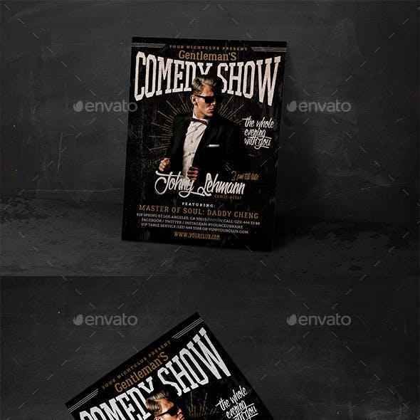 Comedy Show Vintage Flyer