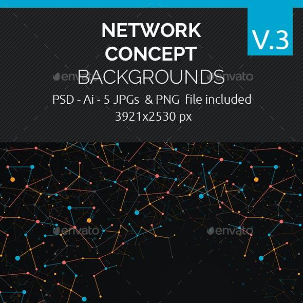 Network Concept Backgrounds V.3