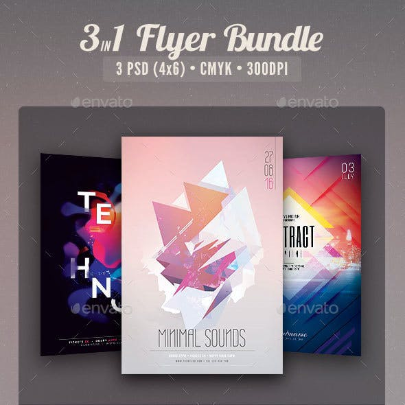 Abstract Party Flyer Bundle Vol.02