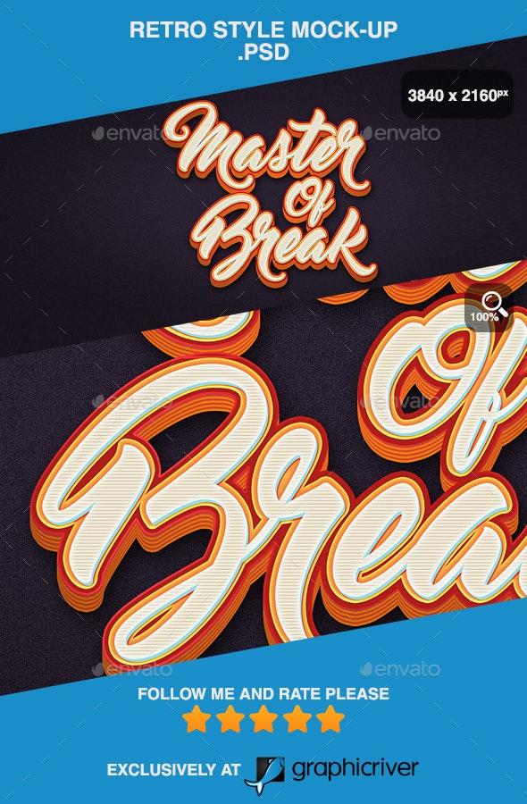 Retro Style Mock-up .PSD - Logo Product Mock-Ups