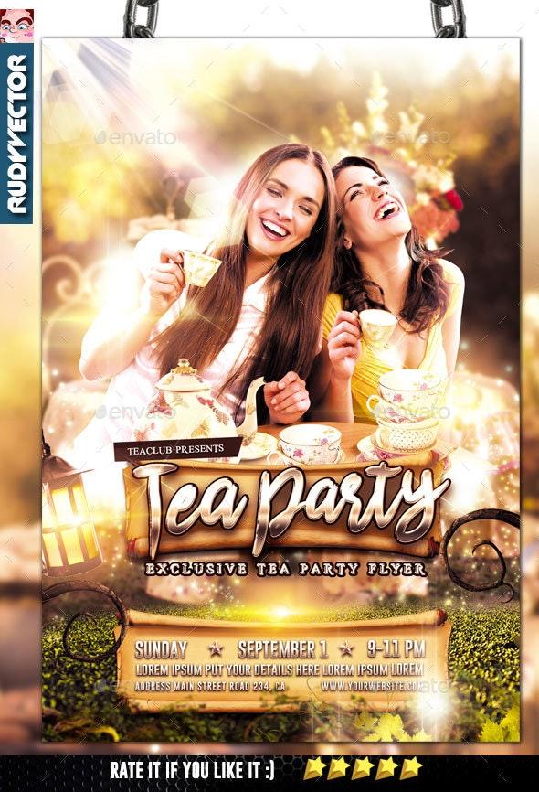 Tea Party Flyer Invitation - Invitations Cards & Invites