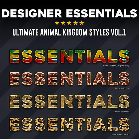 Designer Essentials Animal Kingdom Vol.1