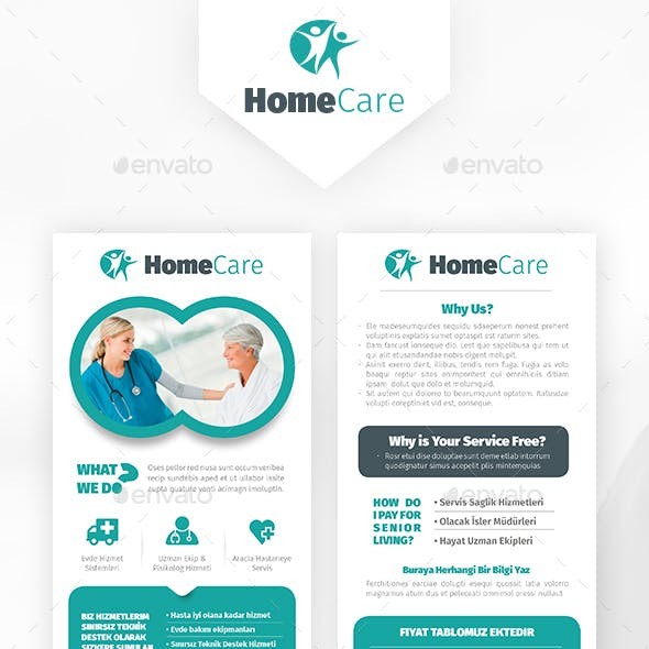 Home Health Care Postcard Templates