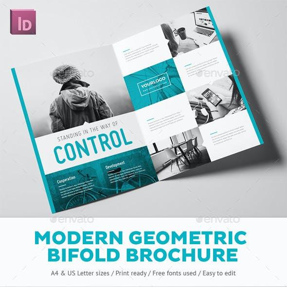 Modern Geometric Bifold Brochure