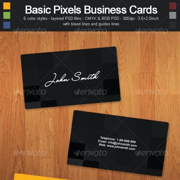 Basic Pixels Business Cards