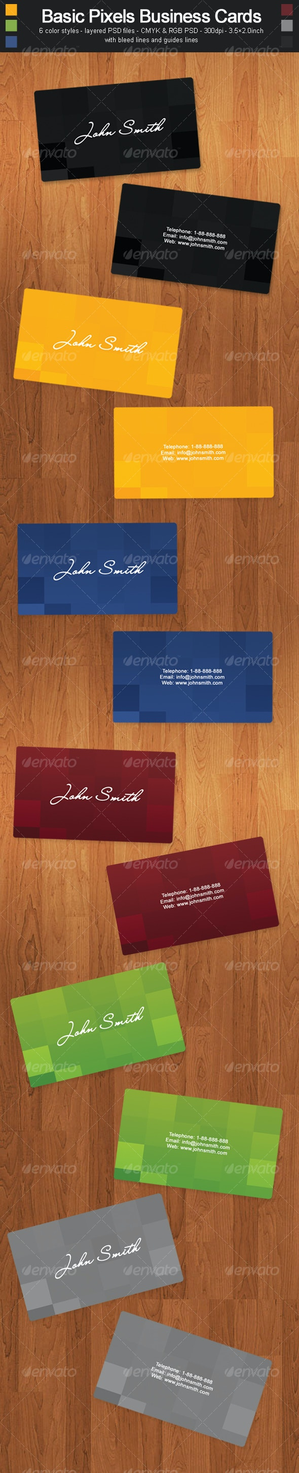 Basic Pixels Business Cards - Corporate Business Cards