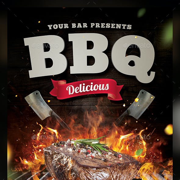 Steak BBQ Flyer Template