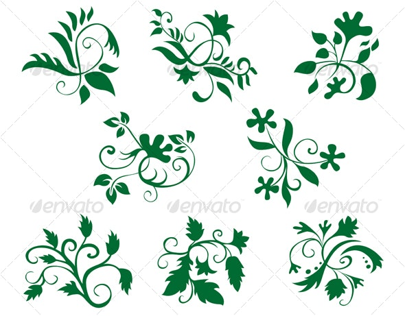 Floral decorations - Flourishes / Swirls Decorative