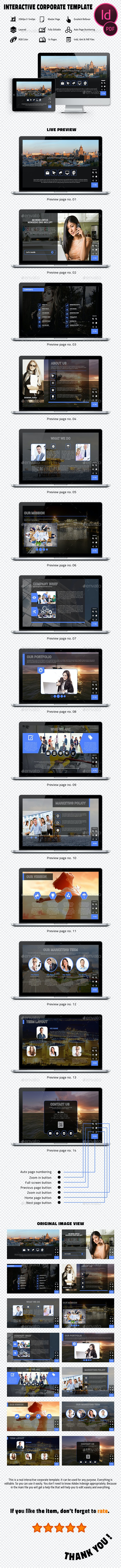 Interactive Corporate Template - Digital Magazines ePublishing
