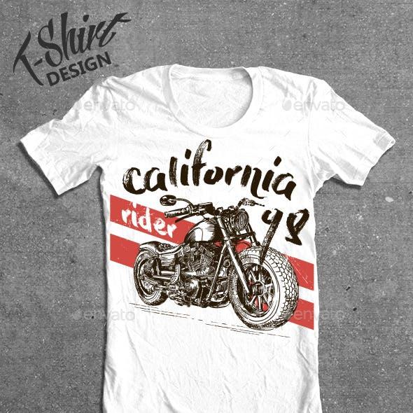 Motorcycle California t-shirt