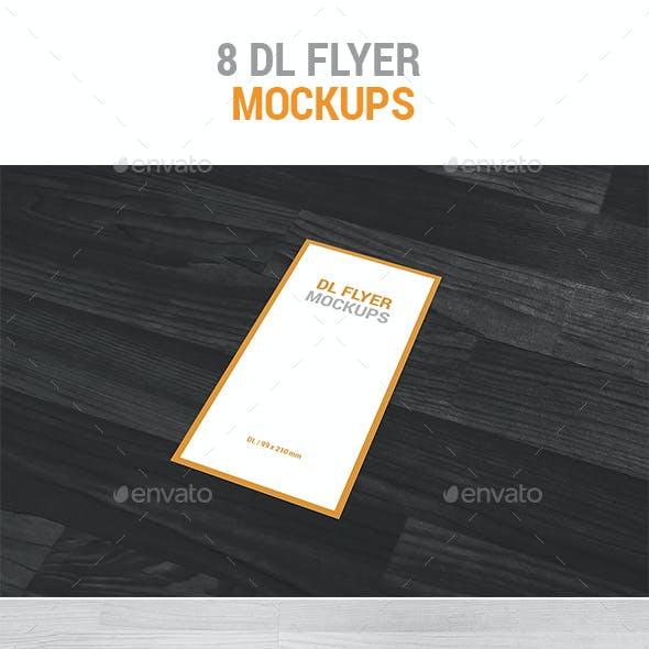8 DL Flyer Mockups