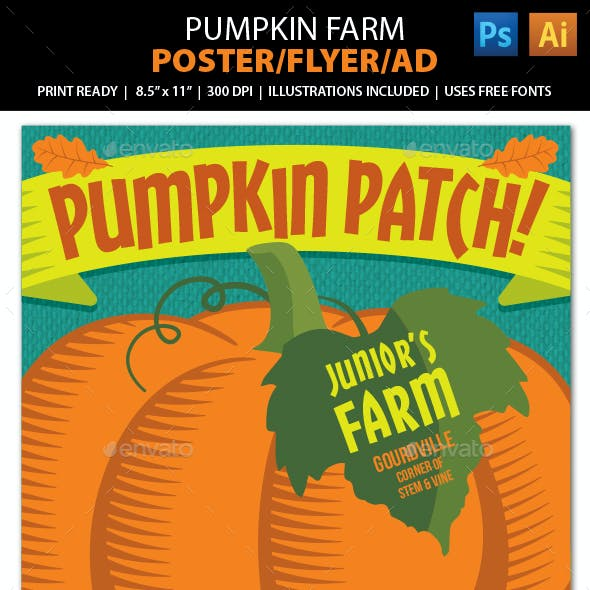 PUMPKIN PATCH FARM Event Poster, Flyer or Ad