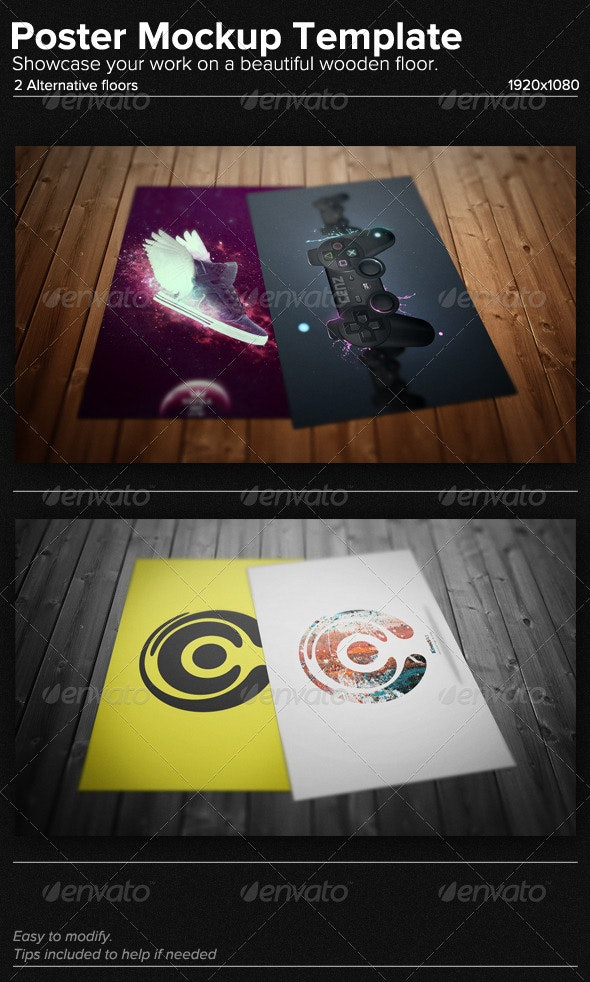 Poster Mockup Template - Posters Print