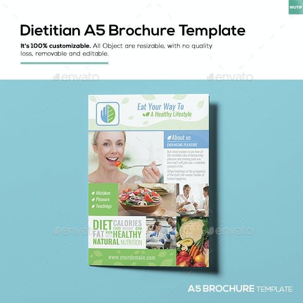 Dietitian/ A5 Brochure Template