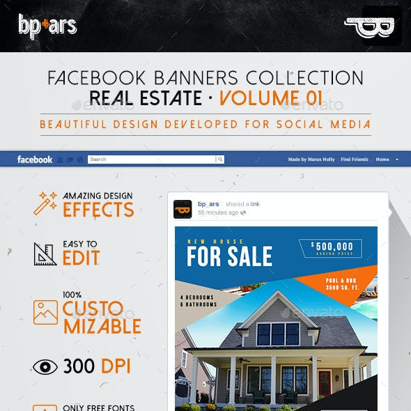 6 Facebook Banners Posts | Real Estate vol I