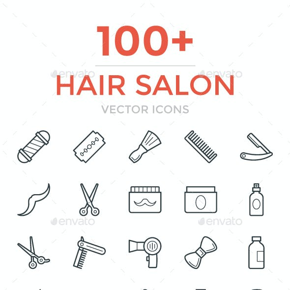 100+ Hair Salon Vector Icons