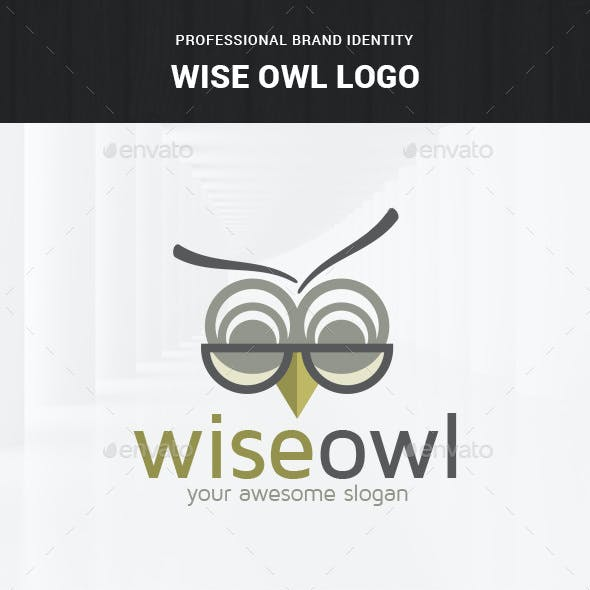 Wise Owl Logo Template