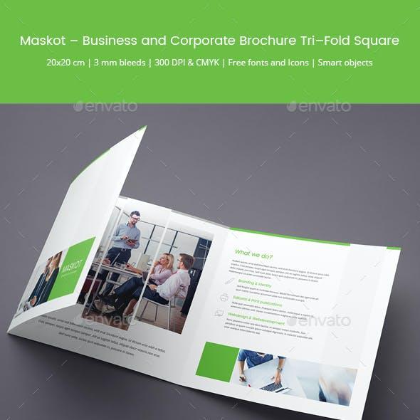 Maskot – Business and Corporate Brochure Tri-Fold Square