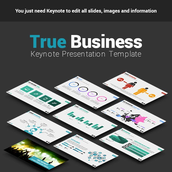 True Business Keynote Presentation Template