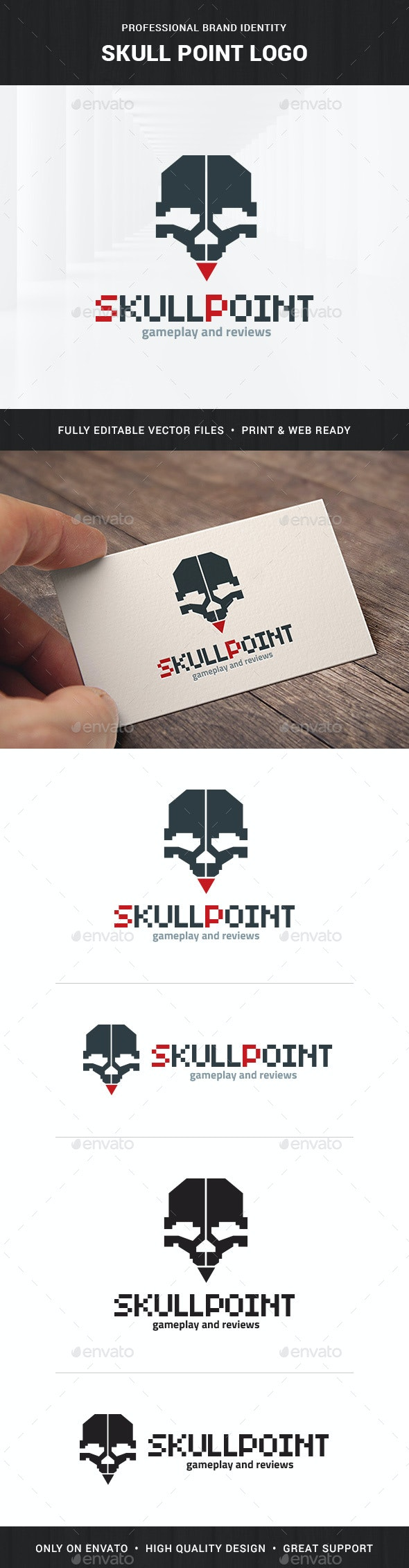 Skull Point Logo Template - Humans Logo Templates