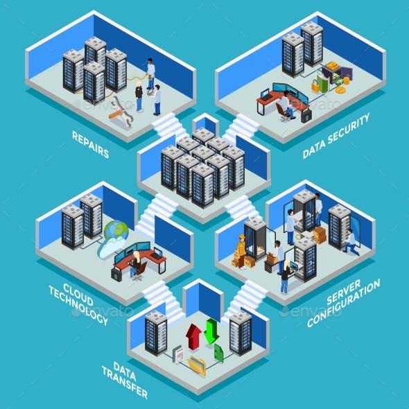 Datacenter Isometric Design Concept