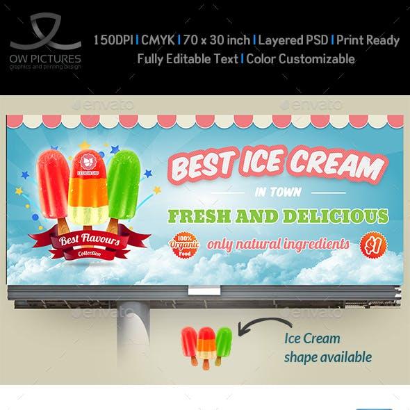Ice Cream Billboard Template Vol.5