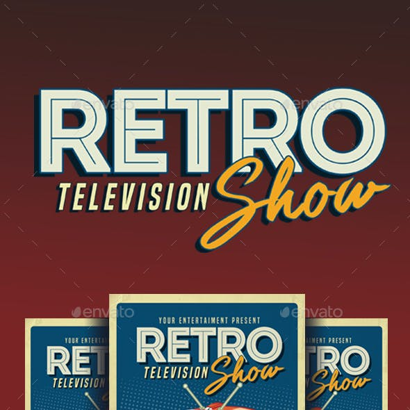 Retro TV show Flyer Poster