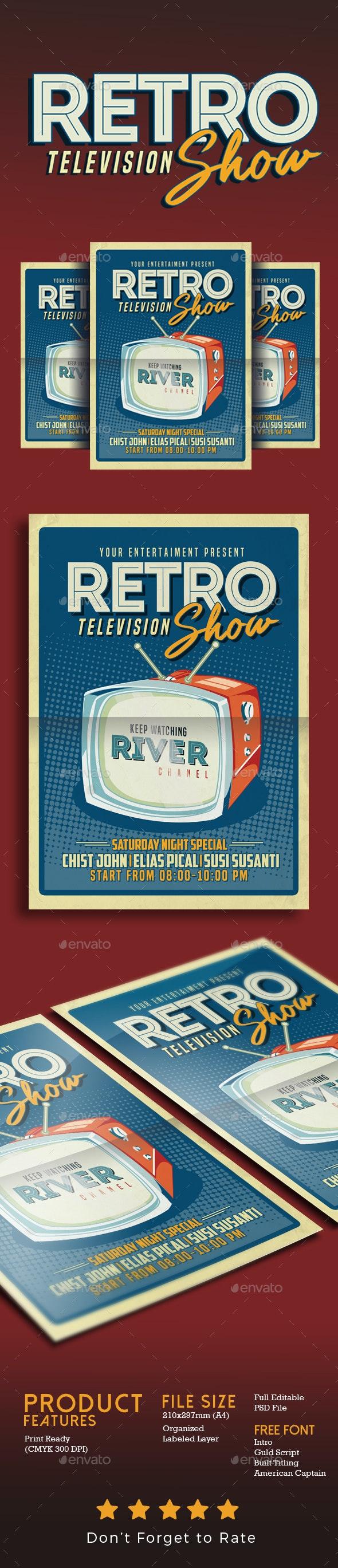 Retro TV show Flyer Poster - Flyers Print Templates