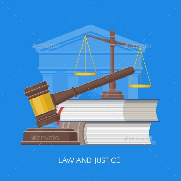 Law and Justice Concept  Illustration