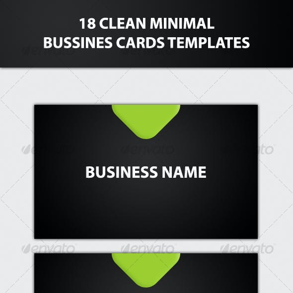 18 Clean Minimal Bussines Cards Templates
