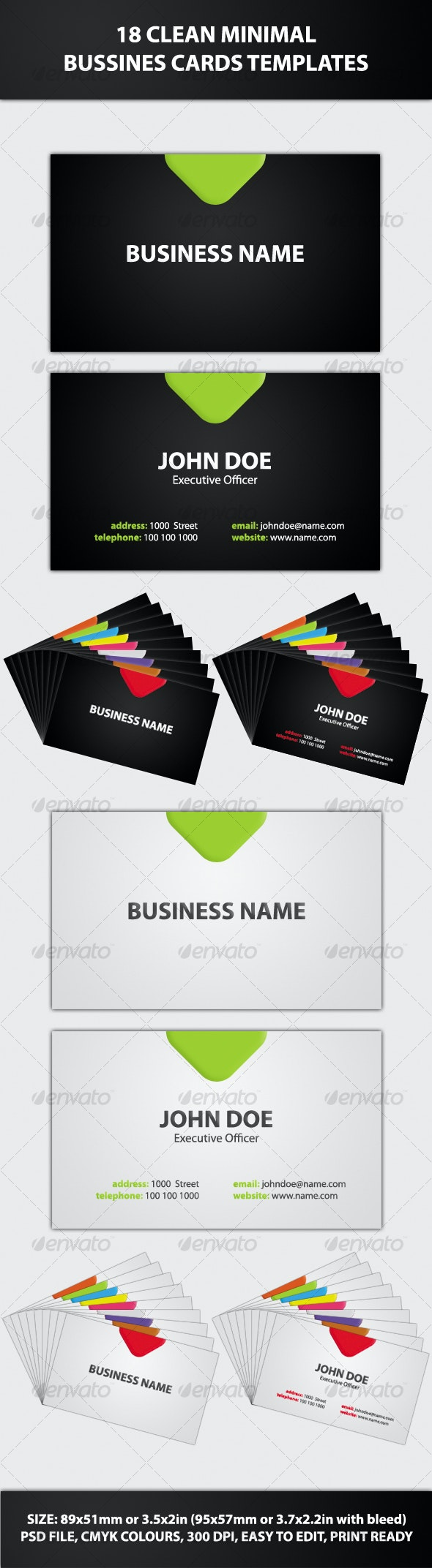 18 Clean Minimal Bussines Cards Templates - Creative Business Cards