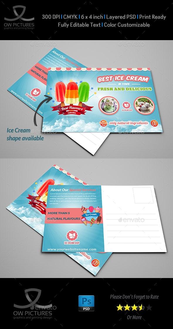Ice Cream Postcard Template Vol.2 - Cards & Invites Print Templates