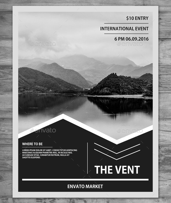 A4 Clean Minimal Flyer - Miscellaneous Events