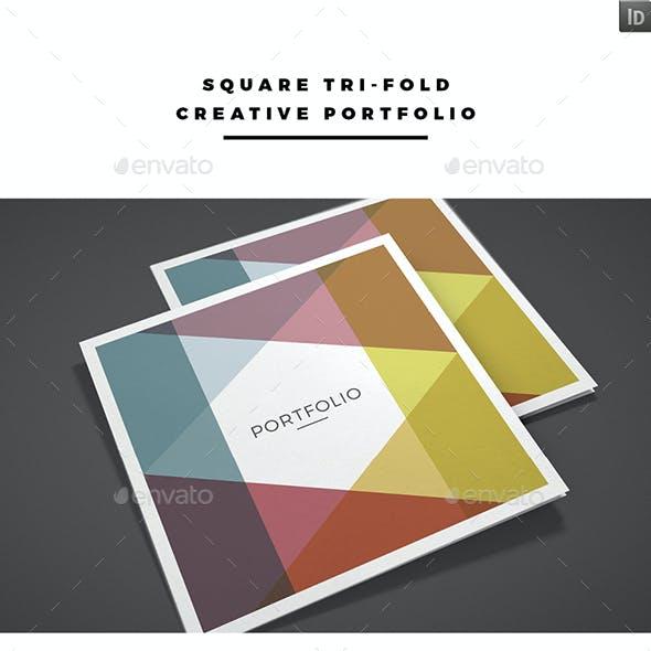 Square Tri-fold Creative Portfolio