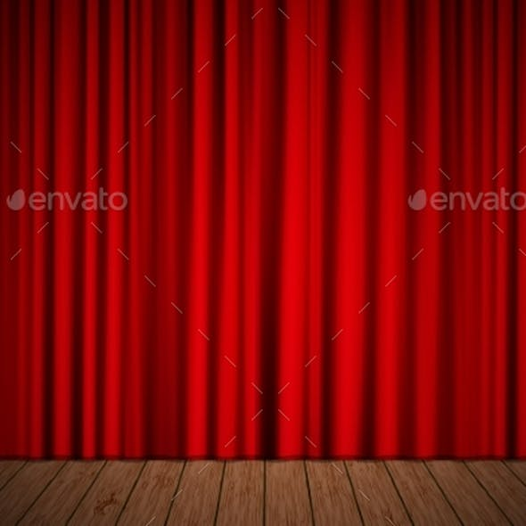 Stage with Curtain
