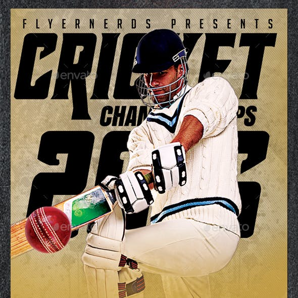 Cricket Championships 2016 Sports Flyer