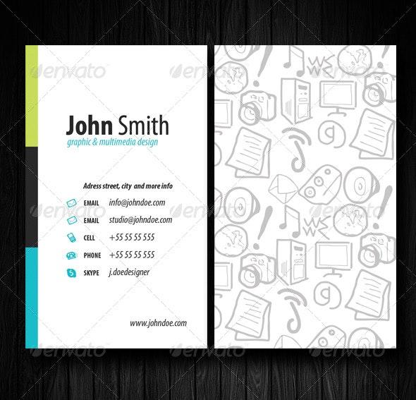 Draw Designer Card - Creative Business Cards