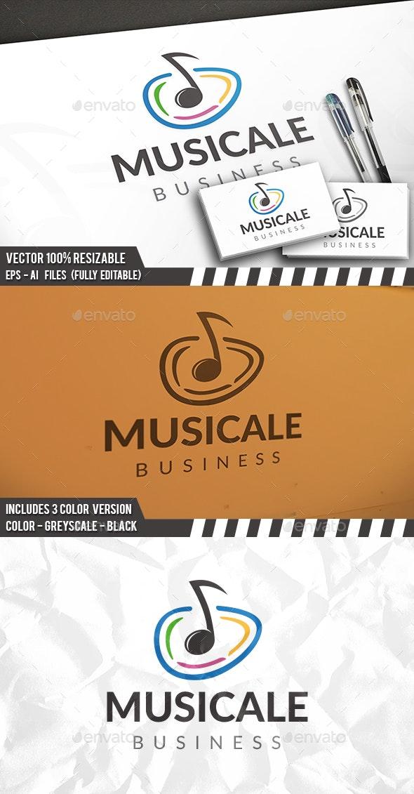 Music Circle Logo - Vector Abstract