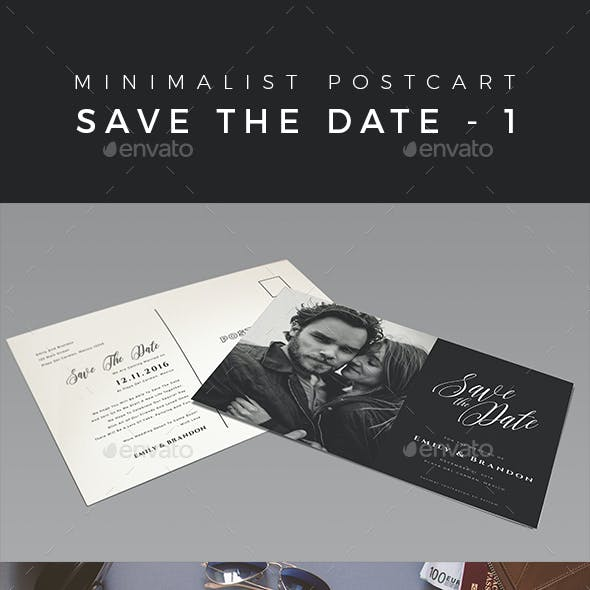 Minimalist Save The Date Postcard | Volume 1