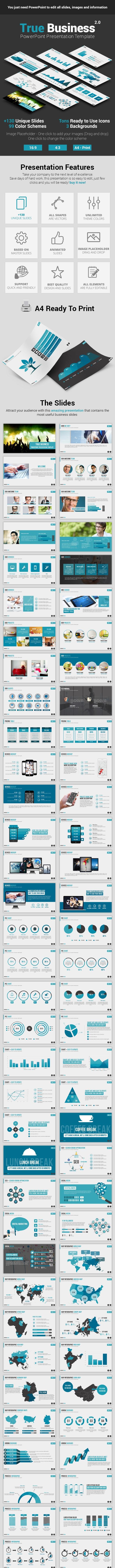 True Business PowerPoint Presentation Template - Business PowerPoint Templates