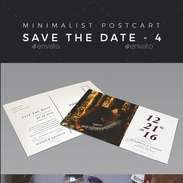 Minimalist Save The Date Postcard | Volume 4