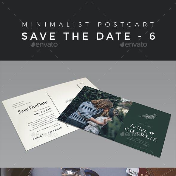 Minimalist Save The Date Postcard | Volume 6