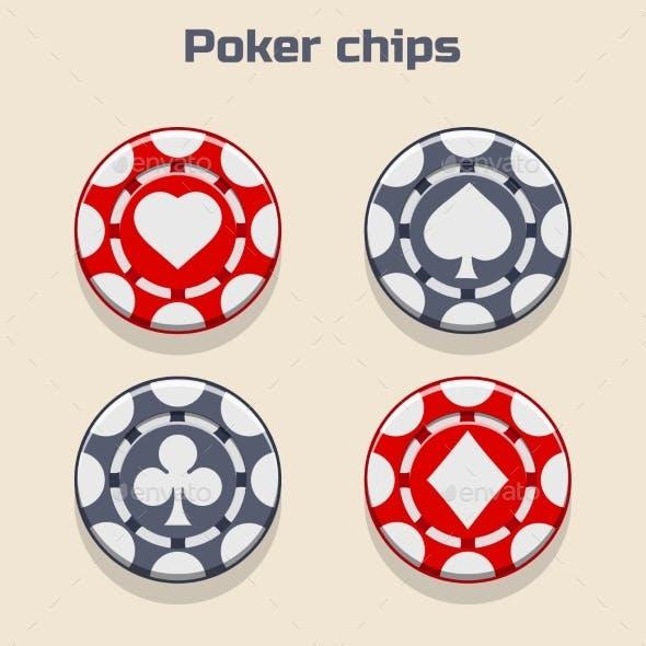 Vector Poker Chips Suit